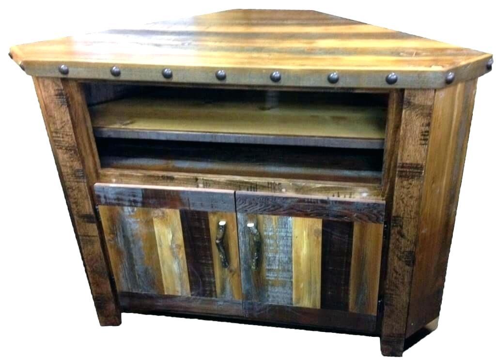 Pine Corner Tv Stand Pine Corner Stand Rustic Pine Corner Tv Cabinet for Widely used Rustic Corner Tv Stands