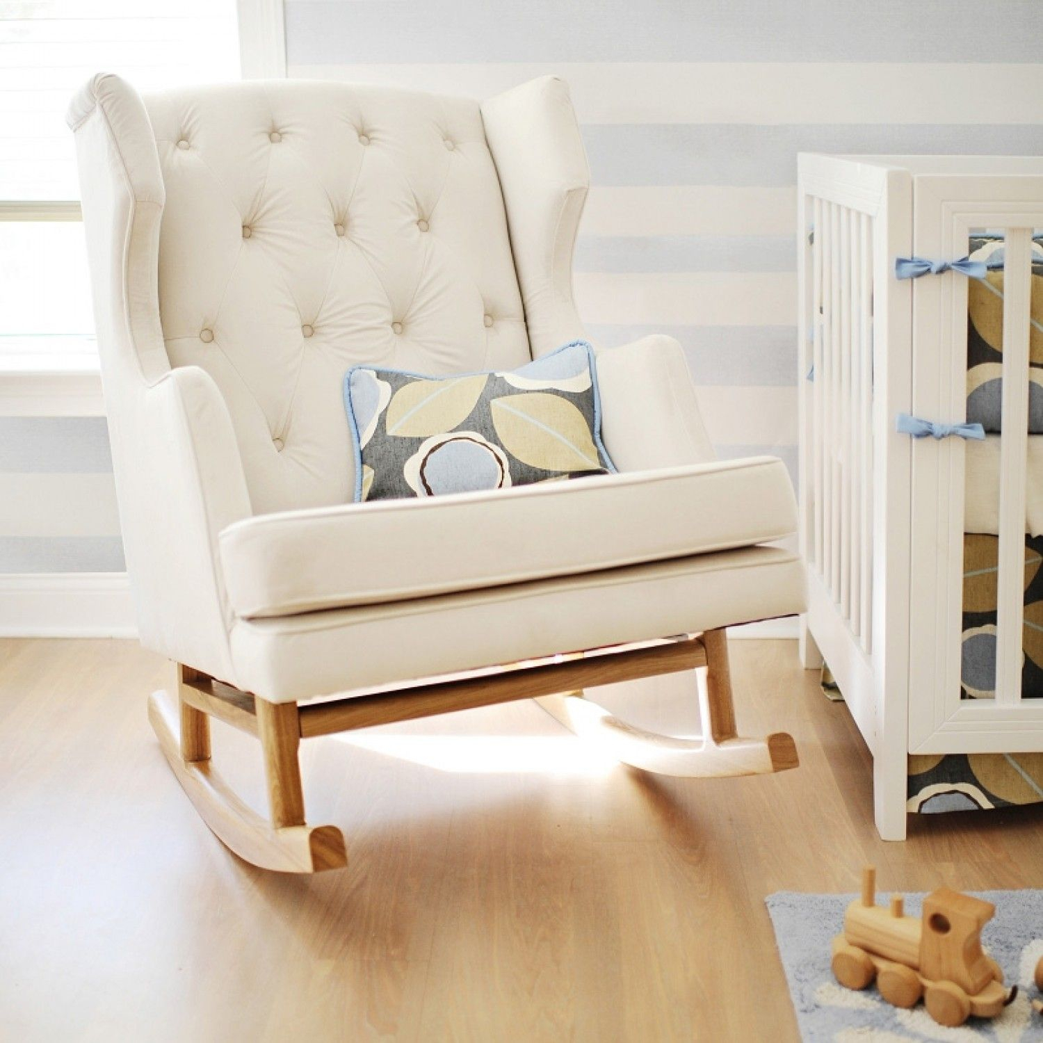 Pinmartha Ladies On Ideas For The House | Baby, Nursery, Rocking Pertaining To Katrina Beige Swivel Glider Chairs (View 20 of 25)