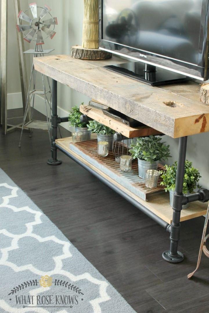 Pinterest within 2017 Reclaimed Wood And Metal Tv Stands