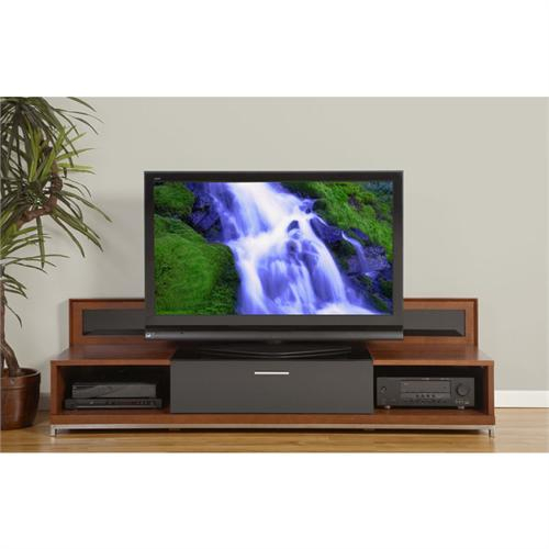 Plateau Valencia Series Backlit Modern Wood Tv Stand For 51-80 Inch intended for Popular Valencia 60 Inch Tv Stands