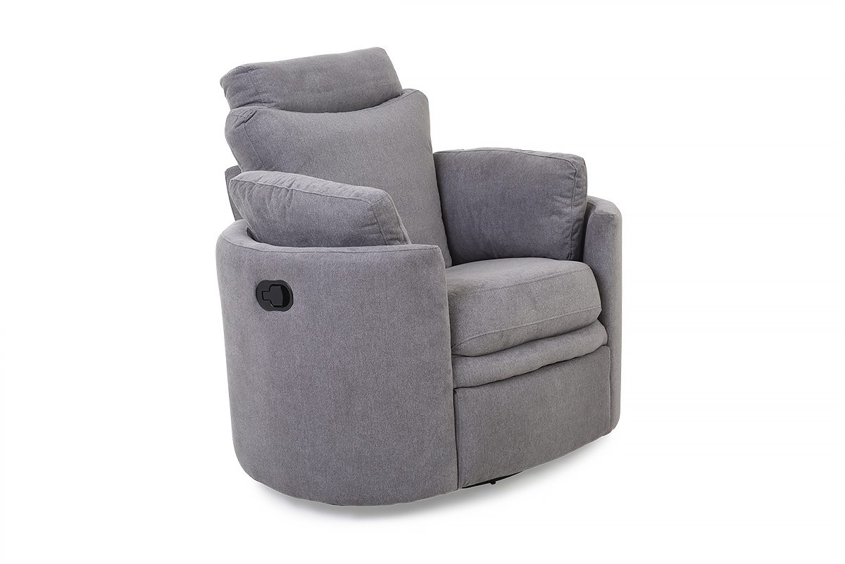 Pluto Grey Swivel Rocker Recliner Armchair – Furniture Stores Ireland Intended For Grey Swivel Chairs (View 20 of 25)