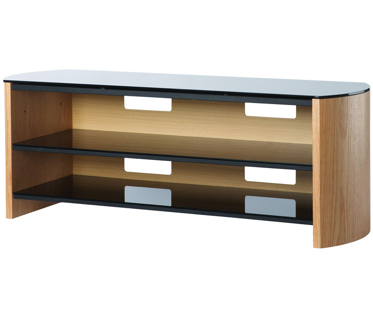 Popular Alphason Tv Cabinet Throughout Alphason Finewoods Fw1350 Light Oak Tv Stand – Alphason (View 1 of 25)
