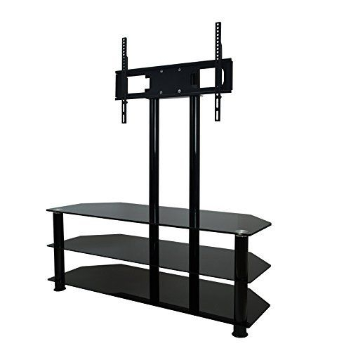 Popular Cantilever Glass Tv Stand Pertaining To Mountright Cantilever Glass Tv Stand For Up To 60 Inch Screens (View 3 of 25)