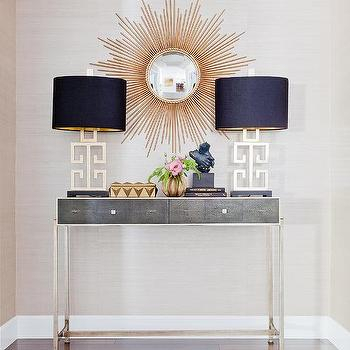Popular Faux Shagreen Console Tables With Faux Anthracite Shagreen Console Table Design Ideas (View 9 of 25)