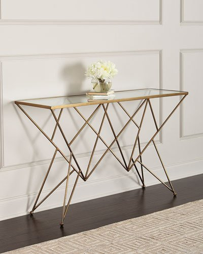 Popular Mix Agate Metal Frame Console Tables Inside Mirrored Chests & Living Room Cabinets At Neiman Marcus Horchow (Image 18 of 25)