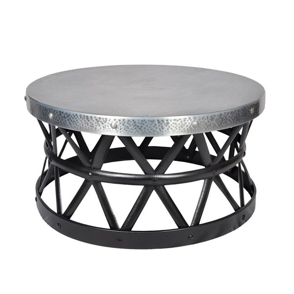 Popular Mix Leather Imprint Metal Frame Console Tables with regard to Metal Coffee Tables You'll Love