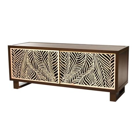Popular Natural Cane Media Console Tables In Art Deco Credenza/media Console, Espresso/natural In (View 3 of 25)