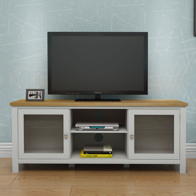 Popular Oak Tv Cabinet With Doors In Modern Oak Tv Unit Solid Wood Corner Tv Entertainment Stand Shelf (View 16 of 25)