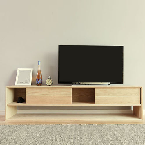 Popular Oak Tv Cabinet With Doors Within Oak Tv Cabinet Modern Minimalist Wood Cabinets With Doors Locker (View 4 of 25)