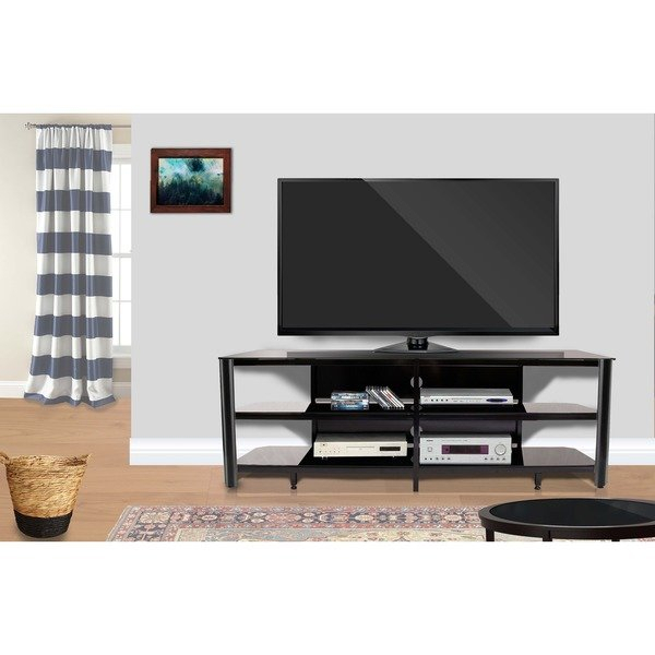 Popular Oxford 60 Inch Tv Stands For Shop Fold 'n' Snap Oxford 73 Inch Black Innovex Tv Stand – Free (Image 16 of 25)
