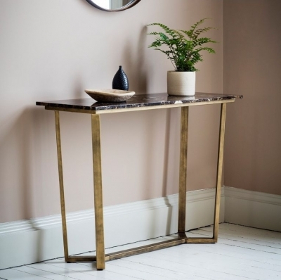 Popular Parsons Walnut Top & Brass Base 48X16 Console Tables with regard to Console Tables - Explore And Shop With Bonsoon