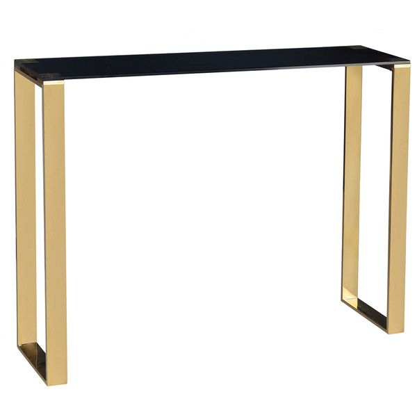 Popular Remi Console Tables Inside Black And Gold Lapiaz Cabinet (Image 12 of 25)
