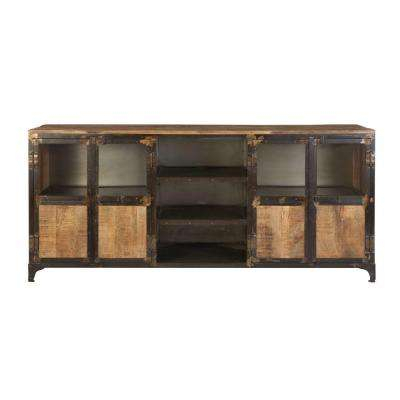 Popular Rustic Wood Tv Cabinets For Rustic – Tv Stands – Living Room Furniture – The Home Depot (Image 18 of 25)