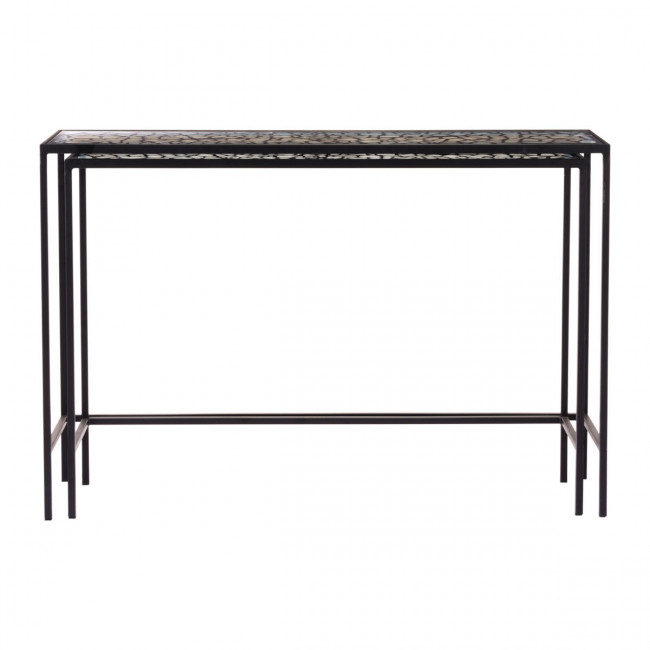 Popular Scattered Geo Console Tables Intended For A10739 – Web Set Of 2 Console Tables Black (Image 22 of 25)