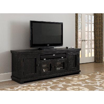 Popular Sinclair Grey 74 Inch Tv Stands For 74 Inch Distresssed Gray Tv Stand – Willow (Image 18 of 25)