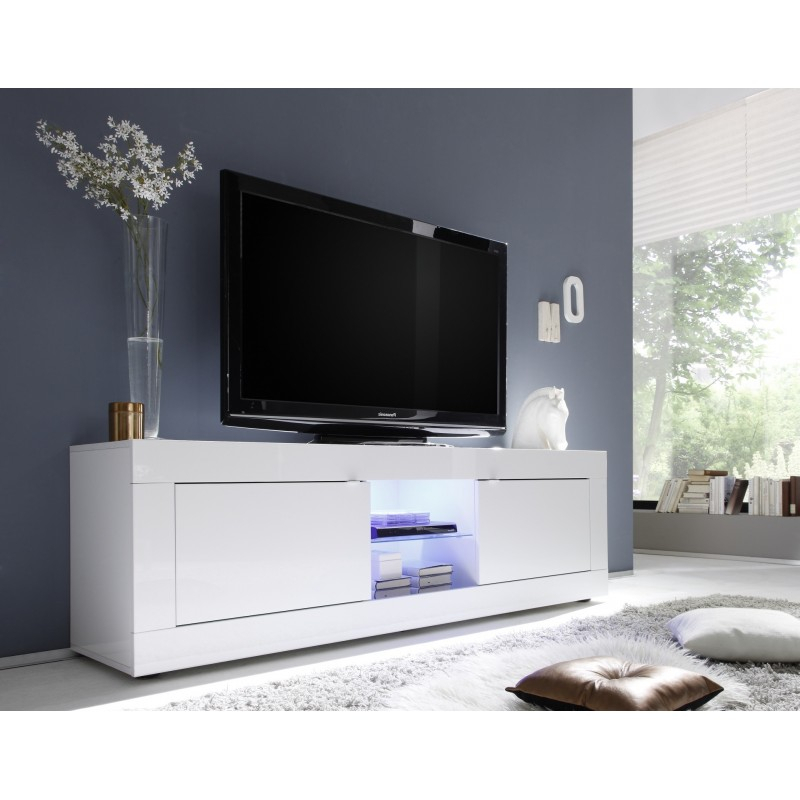 Popular Tv Bench White Gloss Intended For Tv Stands (Image 16 of 25)