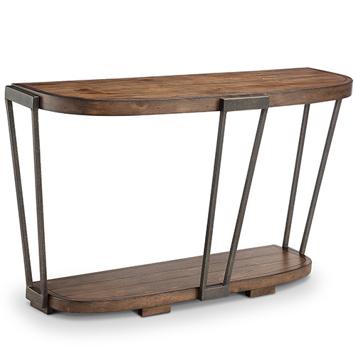 Popular Yukon Grey Console Tables Within Magnussen Home Yukon Industrial Bourbon And Aged Iron Entryway Table (Image 16 of 25)