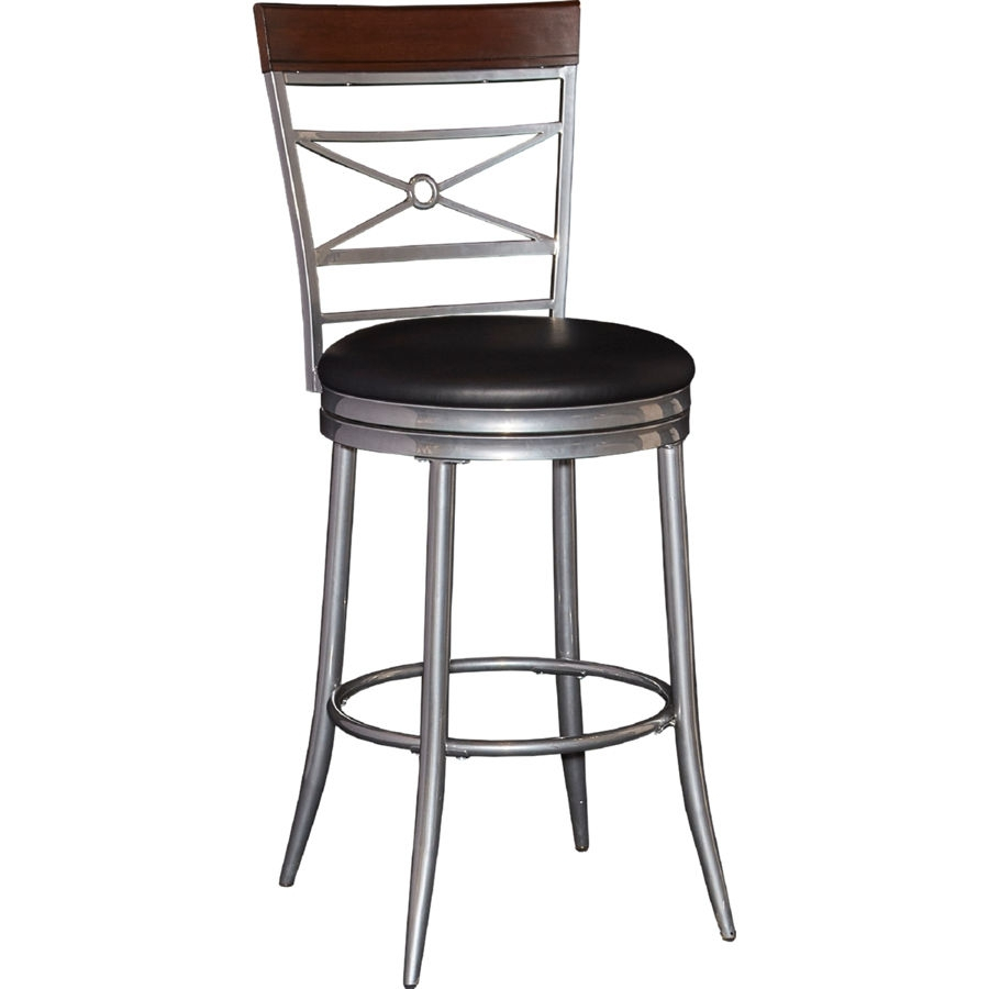 Powell Furniture Rory Black Big And Tall Counter Stool | The Classy Home Regarding Rory Sofa Chairs (Image 11 of 25)