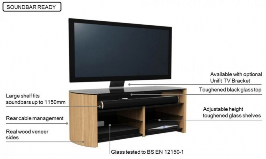 Preferred Alphason Tv Cabinet Throughout Buy Alphason Finewood Black Oak Tv Cabinet For 58Inch – Fw1350Sb Blk (View 13 of 25)