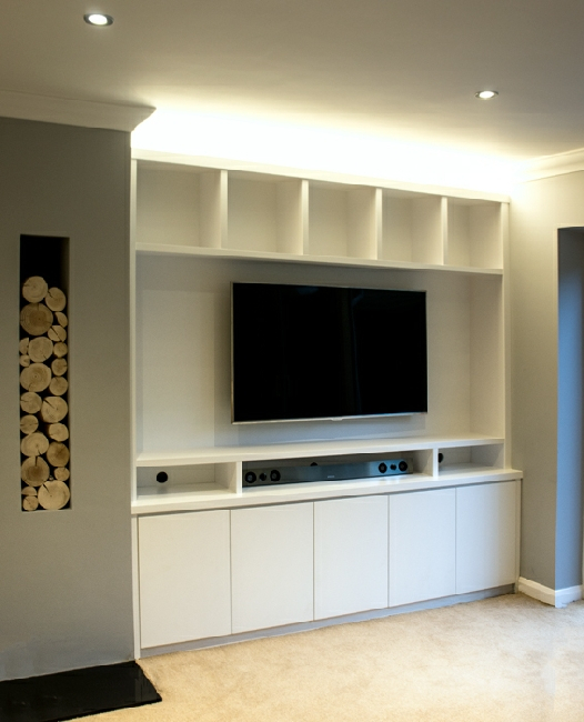 Preferred Bespoke Tv Cabinet Throughout Built In Tv Media Units (Image 18 of 25)