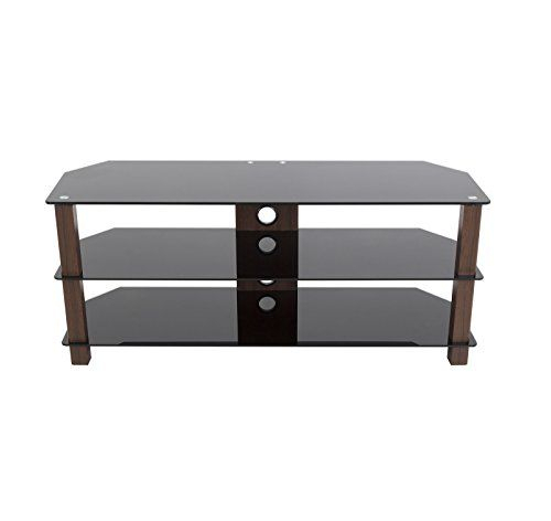 Preferred Black Corner Tv Stands For Tvs Up To 60 Regarding Avf Fs1250Valwb3 A Reflections Valletta Corner Tv Stand For Up To  (Image 19 of 25)