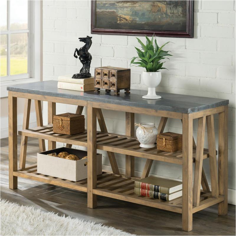 Preferred Bluestone Console Tables With Regard To 16515 Riverside Furniture Weatherford Sofa Table Bluestone (Image 18 of 25)