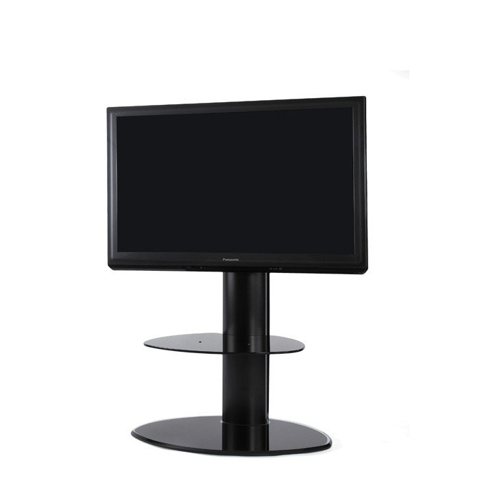 Preferred Cheap Cantilever Tv Stands pertaining to Off-The-Wall Motion Black Cantilever Tv Stand With Free Soundbar Bracket