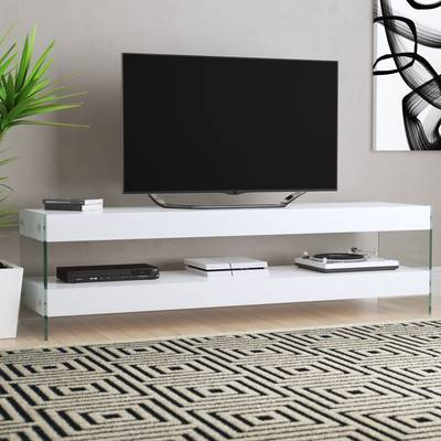 """Preferred Maddy 70 Inch Tv Stands Inside Orren Ellis Tysen High Gloss Tv Stand For Tvs Up To 60"""" & Reviews (Image 15 of 25)"""