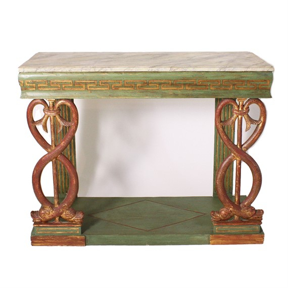 Preferred Mix Leather Imprint Metal Frame Console Tables Regarding Jan Showers Interior Design Antique Furniture, Tables, Mirrors, And More (Image 20 of 25)