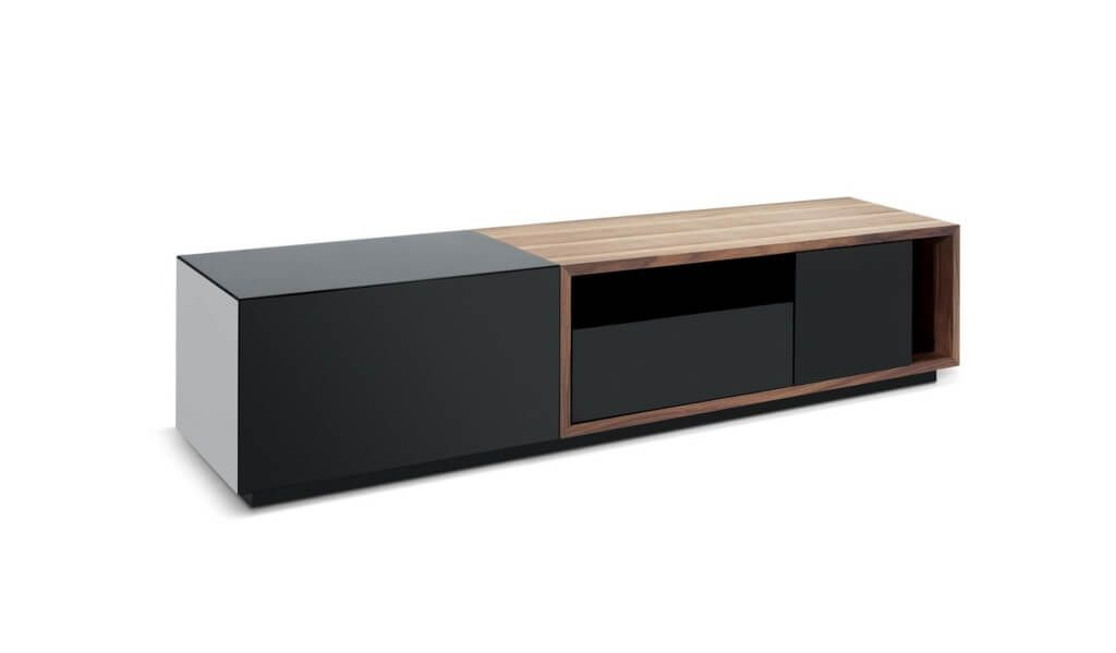 Preferred Modern Low Tv Stands Regarding Furniture: Extra Long Dark Wooden Modern Tv Stands With Storage (View 12 of 25)