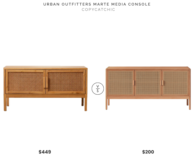 Preferred Natural Cane Media Console Tables Pertaining To Urban Outfitters Marte Media Console $449 Vs (View 4 of 25)