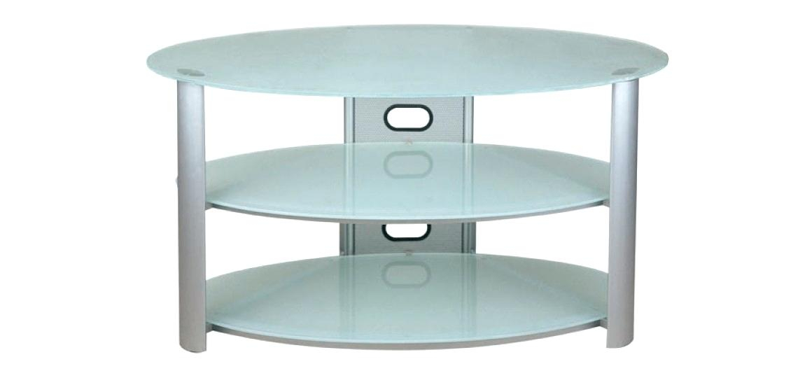 Preferred Oval White Tv Stand Within White Glass Tv Stand Elegant Frosted Glass Stand In Oval White (Image 16 of 25)
