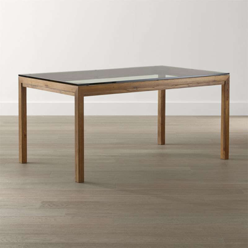 Preferred Parsons Clear Glass Top & Stainless Steel Base 48X16 Console Tables Intended For Glass Top Tables Crate And Barrel With Regard To Table Prepare  (Image 17 of 25)