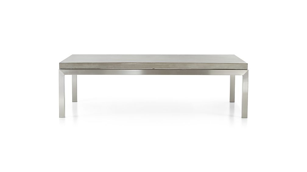 Preferred Parsons Travertine Top & Elm Base 48X16 Console Tables Regarding Parsons Concrete Top/ Stainless Steel Base 60X36 Large Rectangular (Image 22 of 25)