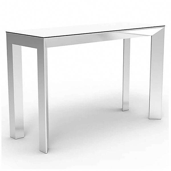 Preferred Parsons Travertine Top & Stainless Steel Base 48X16 Console Tables Pertaining To Frame Aluminum Bar Table (Image 21 of 25)
