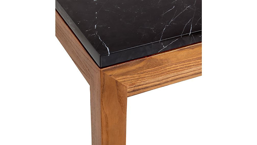 Preferred Parsons White Marble Top & Elm Base 48X16 Console Tables In Parsons Black Marble Top/ Elm Base 20X24 End Table + Reviews (View 10 of 25)