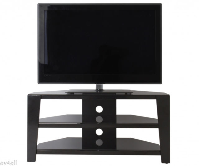 "Preferred Shiny Black Tv Stands regarding Avf Vico Gloss Black Tv Stand For Up To 55"" Fs1050Vib"