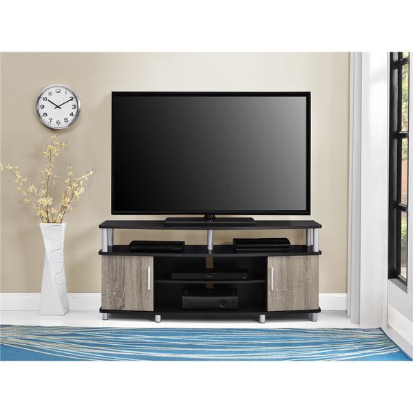 Preferred Tv Stands 38 Inches Wide inside Shop Ameriwood Home Carson 50-Inch Espresso/ Sonoma Oak Tv Stand