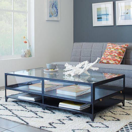 Preferred Ventana Display Console Tables For Ventana Display Black Iron Glass Coffee Table (View 23 of 25)