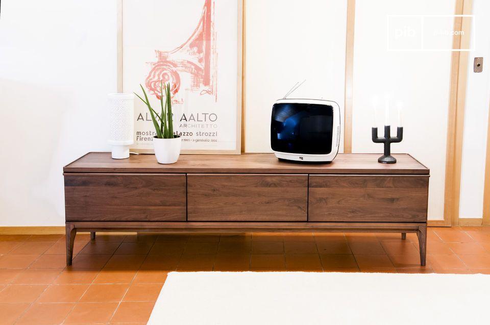 Preferred Walnut Tv Cabinets With Doors regarding Walnut Tv Cabinet Hemët - Large Extendable Drawers