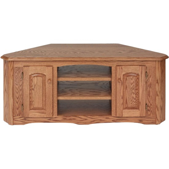 "Preferred Wooden Corner Tv Stands Inside Solid Wood Oak Country Corner Tv Stand W/cabinet – 55"" – The Oak (View 3 of 25)"