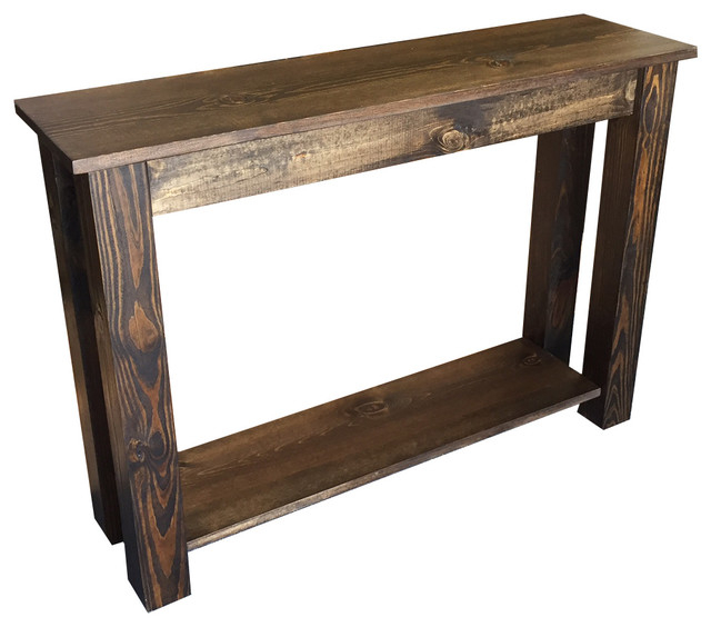 Preferred Yukon Natural Console Tables With Regard To Yukon Sofa Table – Rustic – Console Tables Ezekiel & Stearns (View 4 of 25)