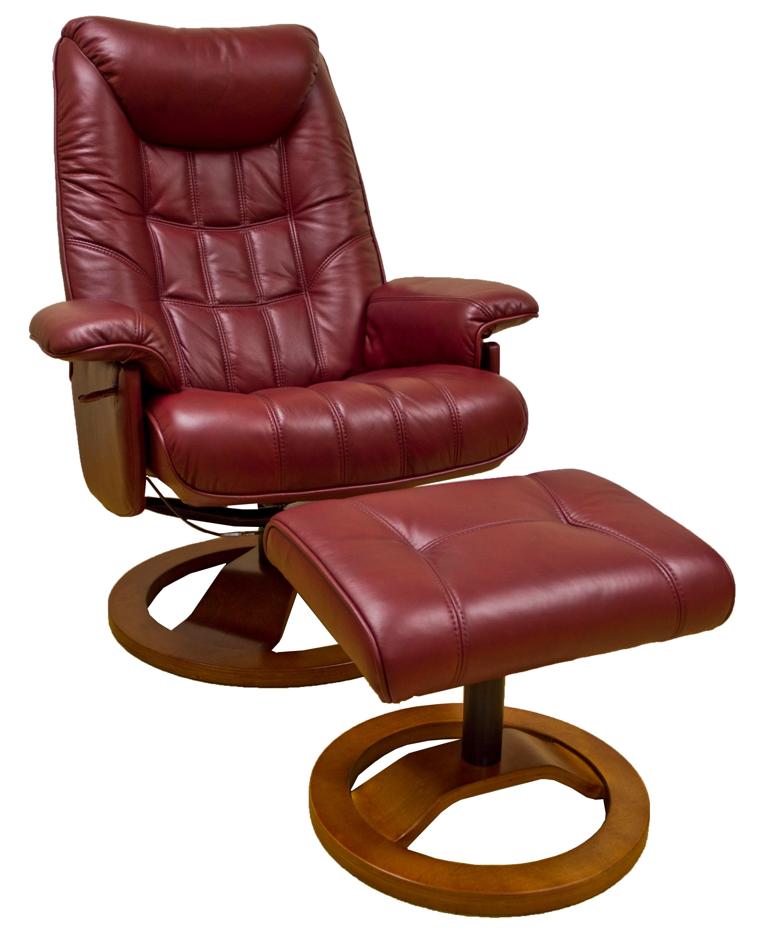 Probably Outrageous Nice Leather Reclining Armchair And Footstool Intended For Amala Bone Leather Reclining Swivel Chairs (View 22 of 25)