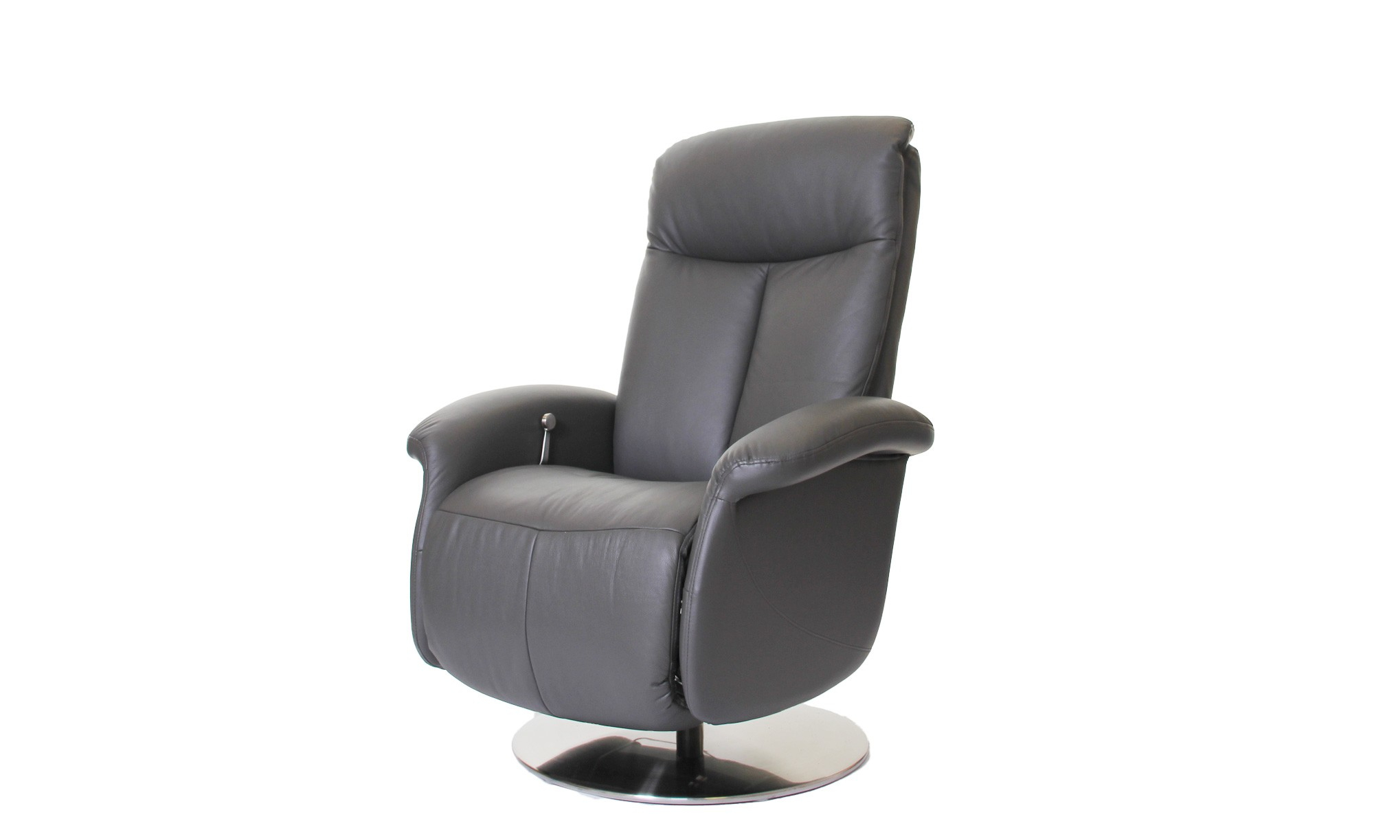 Probably Outrageous Nice Leather Reclining Armchair And Footstool pertaining to Amala Dark Grey Leather Reclining Swivel Chairs