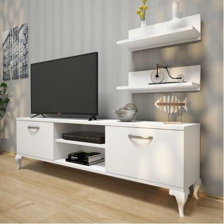 Rani A4 Duvar Raflı Tv Sehpası – Kitaplıklı Tv Ünitesi Modern Aya In Latest Ducar 64 Inch Tv Stands (Image 15 of 25)