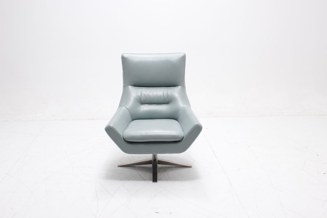 Real Leather Swivel Accent Chair , Upholstered Swivel Chairs For Regarding Umber Grey Swivel Accent Chairs (View 22 of 25)