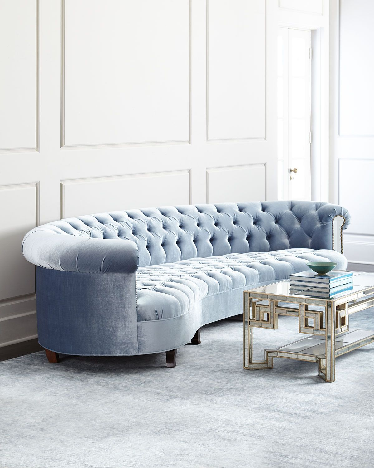 Rebecca Mirrored Sofa | Home Sweet Home | Pinterest | Sofa With Ames Arm Sofa Chairs By Nate Berkus And Jeremiah Brent (View 25 of 25)