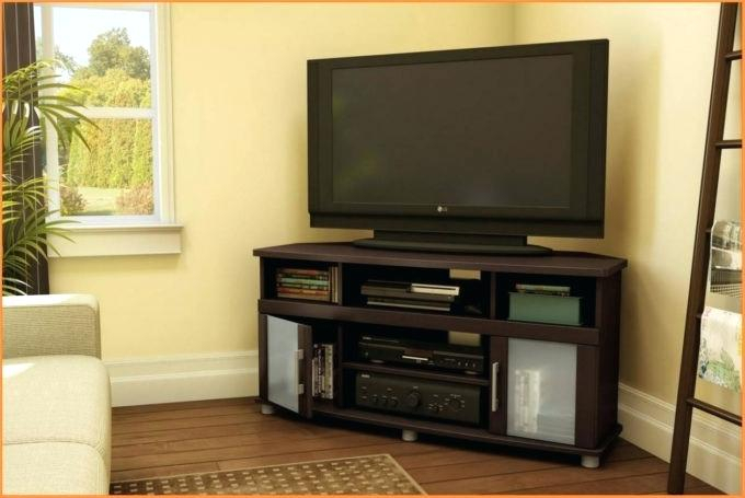 Recent 55 Inch Corner Tv Stands With Corner Tv Stand For 55 Inch Curved Fireplace Flat Screen Oak Small (Image 15 of 25)