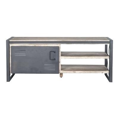 Recent Burnt Oak Metal Sideboards Pertaining To Wood And Metal Sideboard – Ikeke (Image 12 of 25)