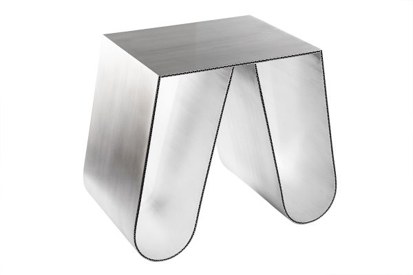 Recent Elke Glass Console Tables With Polished Aluminum Base For No Cardboard In Brushed Aluminiumphilipp Käfer For Sale At Pamono (Image 19 of 25)